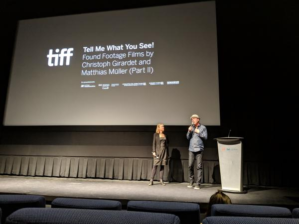 Catherine Russell and Matthias Müller in conversation at the TIFF Bell Lightbox