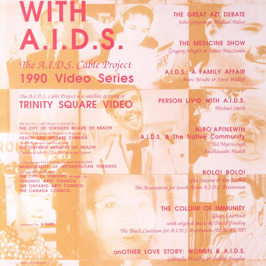 Toronto Living with AIDS- 1990 Video Series Poster